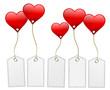 Herzen mit Schildern