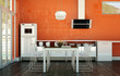 Wohnküche orange