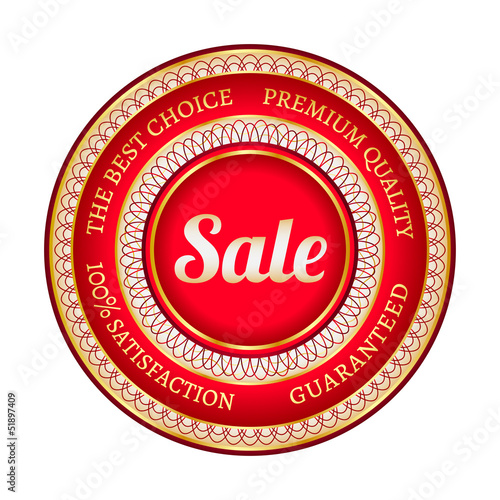 Big red sale label