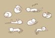 Sleeping cats set