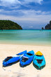 kayaks at the tropical beach Kingdom Thailand