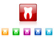 tooth vector web icon set