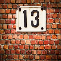 numero 13 mattoni