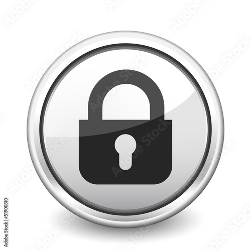 button gray close padlock