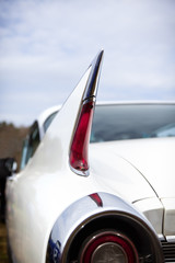 Tailfin of vintage american car