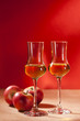 Calvados und Äpfel