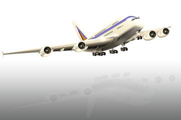 Modernes Großraumflugzeug