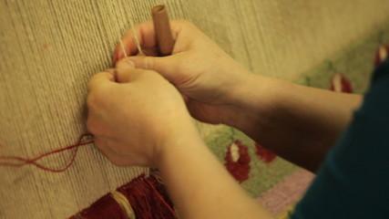 Hand made carpet in Turkey