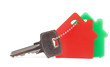 house key with red and green home estate security