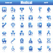 blue medical icons reflex