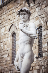 Statua del David di Michelangelo a Firenze in Italia