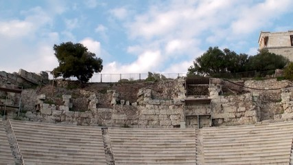 Odeon of Herodes Atticus stone theater at the Acropolis.