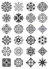 circular damask decorations
