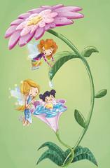 niñas en la flor