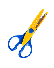 Color scissors on the white isolated background