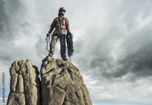 Climber on the summit.