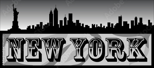 New York City Vector Illustration Silhouette