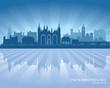 Peterborough England city skyline silhouette