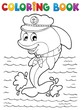 Coloring book dolphin theme 1
