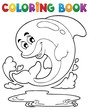 Coloring book dolphin theme 2