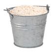 Wholemeal / wheatmeal / brown flour in a miniature metal bucket