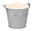 Plain / all purpose flour in a miniature metal bucket