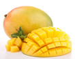 isolated fresh mango