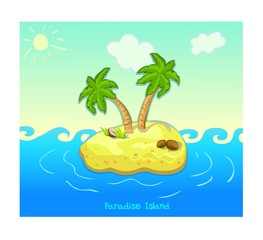 Paradise Island vector illustration