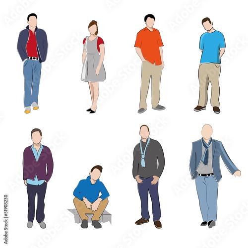 8 Silhouetten Jugend modern