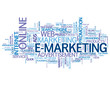 """E-MARKETING"" Tag Cloud (business online advertising publicity)"