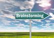 """Signpost """"Brainstorming"""""""