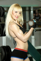 Attractive fitness model in the gym