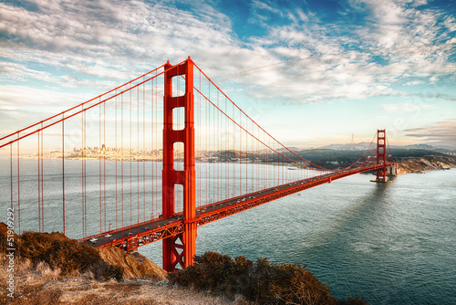 Staande foto Brug Golden Gate Bridge, San Francisco