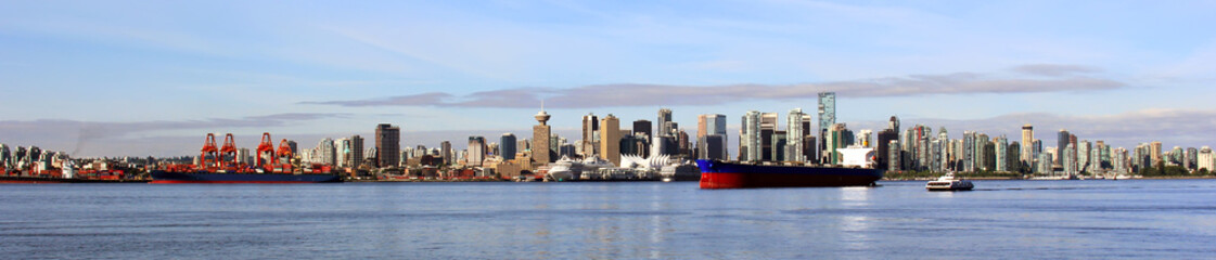 Vancouver Canada panoramic cityscape.