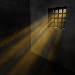 Zelle Gefängnis Licht Gitterfenster