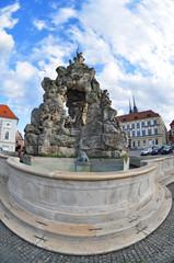 Historic brno architecture, fountain Parnas