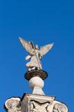 Angel statue on the Znamensky church in Dubrovitsy, Russia