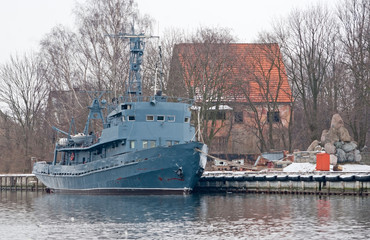 Old minesweeper in Baltiysk, Russia