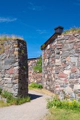 Walls of Suomenlinna fortress, Finland