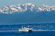 Seattle Bainbridge Island Ferry Puget Sound Olympic Mountains - 51912222
