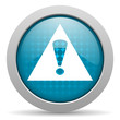 warning blue circle web glossy icon