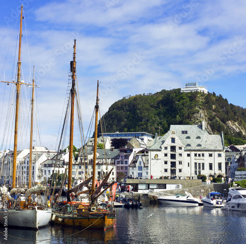 Center of Norwegian town Alesund