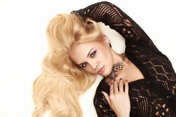 Beautiful sexy passion blond woman