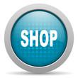 shop blue circle web glossy icon