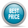 best price blue circle web glossy icon