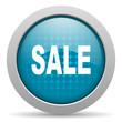 sale blue circle web glossy icon
