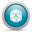 dice blue circle web glossy icon
