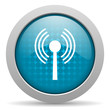 wifi blue circle web glossy icon