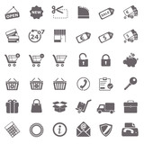 Shopping basic icons