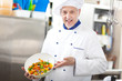 Chef showing a salad